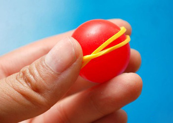 You can also use rubber bands to make a ball.