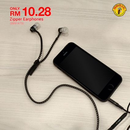 MR.DIY Malaysia Zipper Earphone